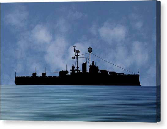 Battleship Canvas Print - Cus Delaware 1942 V1 by Smart Aviation