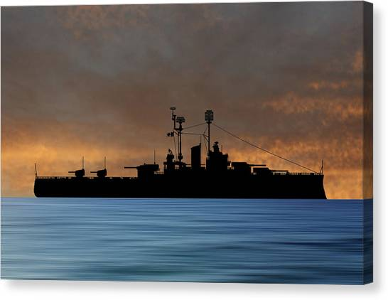 Battleship Canvas Print - Cus Delaware 1942 V3 by Smart Aviation