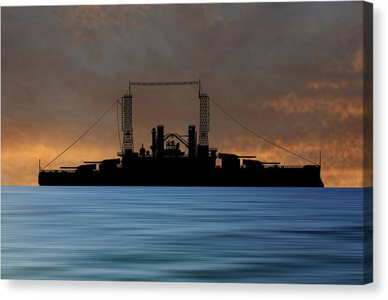 Battleship Canvas Print - Cus Michigan 1909 V3 by Smart Aviation