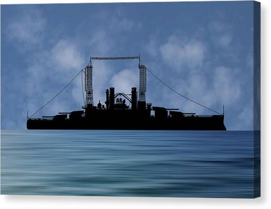 Battleship Canvas Print - Cus Michigan 1909 V1 by Smart Aviation