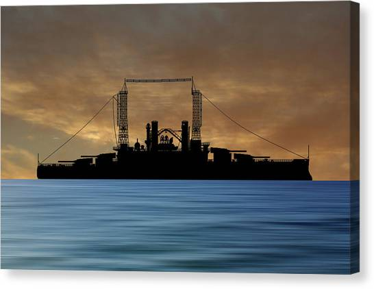 Battleship Canvas Print - Cus Michigan 1909 V2 by Smart Aviation