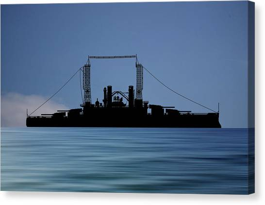 Battleship Canvas Print - Cus Michigan 1909 V4 by Smart Aviation