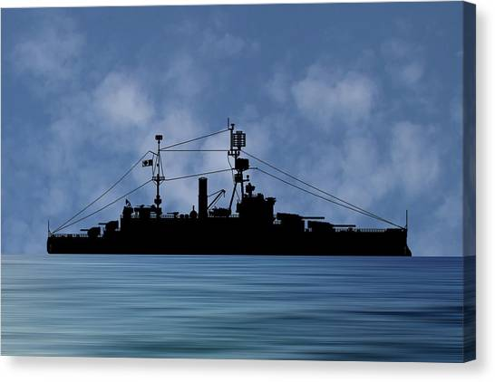 Battleship Canvas Print - Cus Michigan 1925 V1 by Smart Aviation