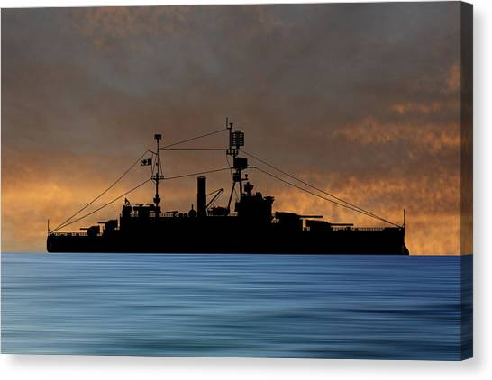 Battleship Canvas Print - Cus Michigan 1925 V3 by Smart Aviation