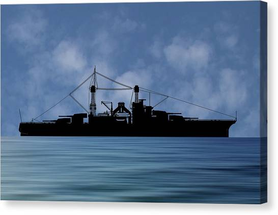 Battleship Canvas Print - Cus Rhode Island 1928 V1 by Smart Aviation