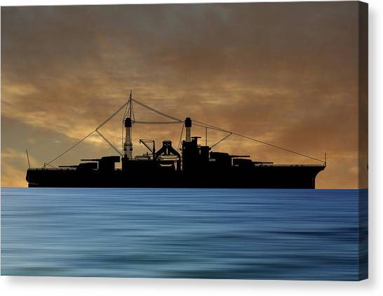 Battleship Canvas Print - Cus Rhode Island 1928 V2 by Smart Aviation