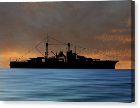Battleship Canvas Print - Cus Rhode Island 1928 V3 by Smart Aviation