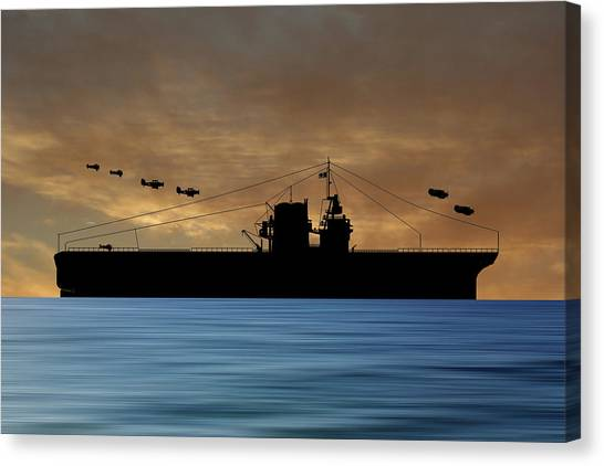 Battleship Canvas Print - Cus Rhode Island 1929 V2 by Smart Aviation