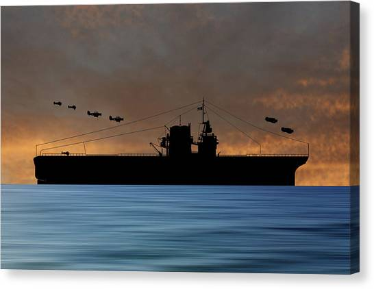 Battleship Canvas Print - Cus Rhode Island 1929 V3 by Smart Aviation