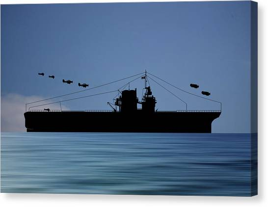 Battleship Canvas Print - Cus Rhode Island 1929 V4 by Smart Aviation