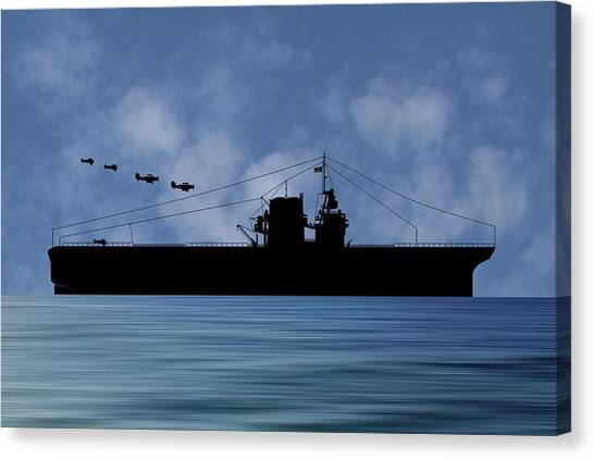 Battleship Canvas Print - Cus Rhode Island 1930 V1 by Smart Aviation