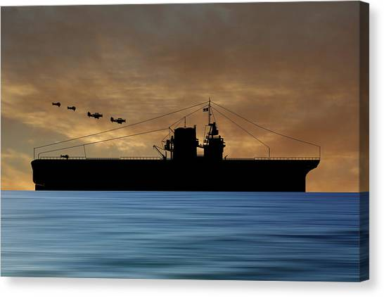 Battleship Canvas Print - Cus Rhode Island 1930 V2 by Smart Aviation