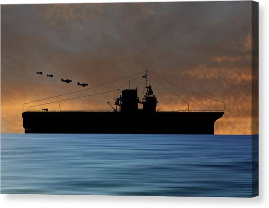 Battleship Canvas Print - Cus Rhode Island 1930 V3 by Smart Aviation