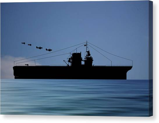 Battleship Canvas Print - Cus Rhode Island 1930 V4 by Smart Aviation