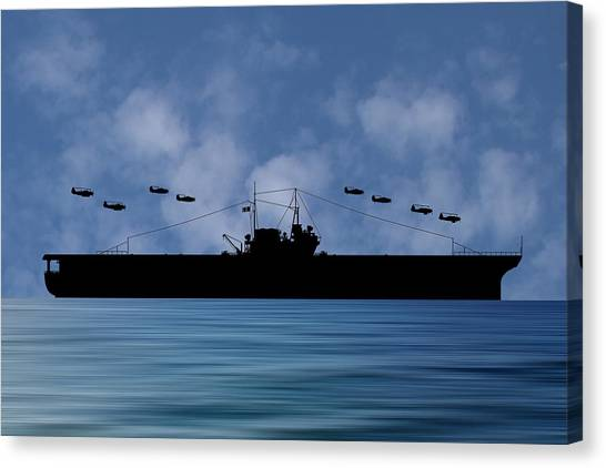 Aircraft Carrier Canvas Print - Cus Thomas Jefferson 1932 V1 by Smart Aviation
