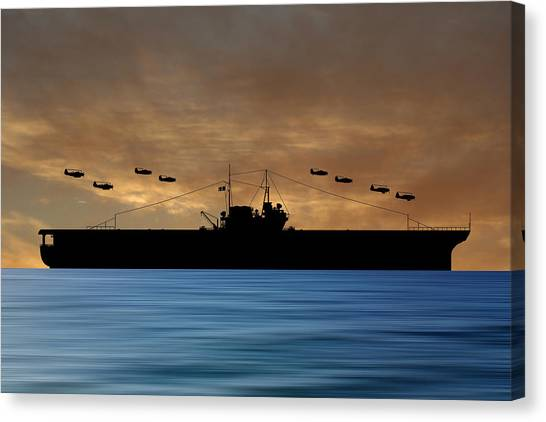 Aircraft Carrier Canvas Print - Cus Thomas Jefferson 1932 V2 by Smart Aviation