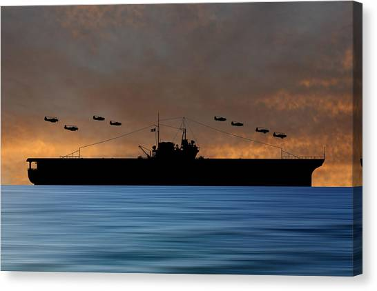 Aircraft Carrier Canvas Print - Cus Thomas Jefferson 1932 V3 by Smart Aviation