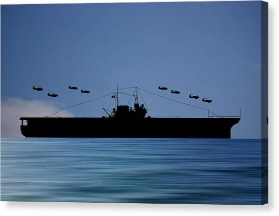 Aircraft Carrier Canvas Print - Cus Thomas Jefferson 1932 V4 by Smart Aviation