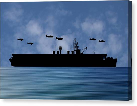 Aircraft Carrier Canvas Print - Cus Ulysses S Grant 1942 V1 by Smart Aviation