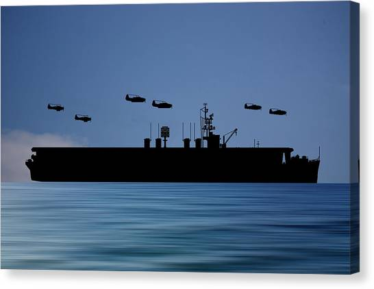 Aircraft Carrier Canvas Print - Cus Ulysses S Grant 1942 V4 by Smart Aviation