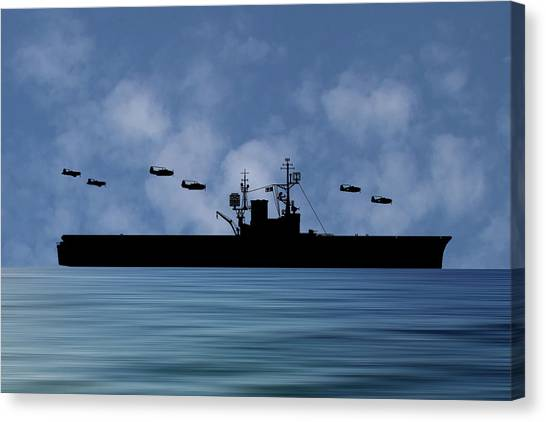 Aircraft Carrier Canvas Print - Cus Woodrow Wilson 1944 V1 by Smart Aviation