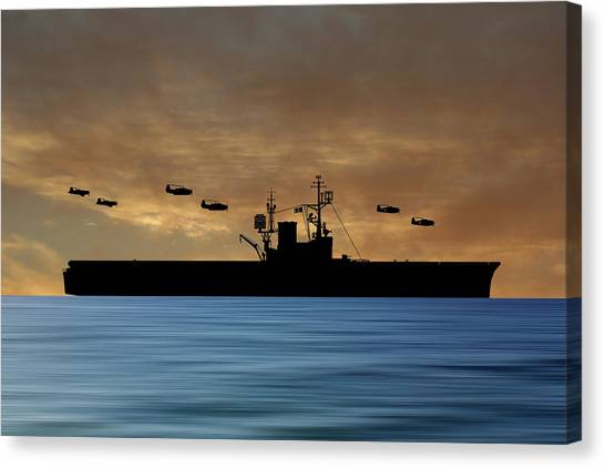 Aircraft Carrier Canvas Print - Cus Woodrow Wilson 1944 V2 by Smart Aviation