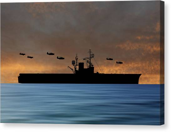 Aircraft Carrier Canvas Print - Cus Woodrow Wilson 1944 V3 by Smart Aviation