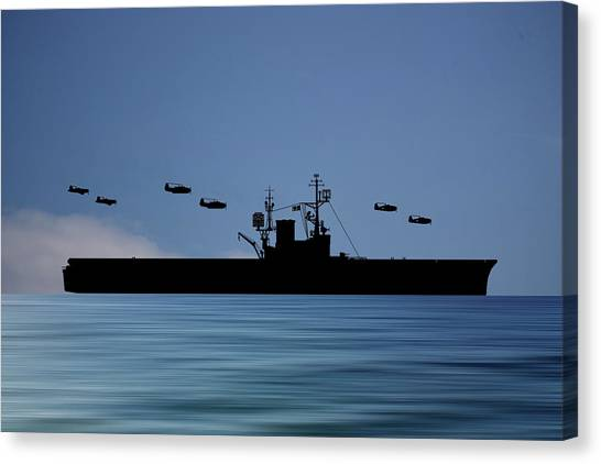 Aircraft Carrier Canvas Print - Cus Woodrow Wilson 1944 V4 by Smart Aviation