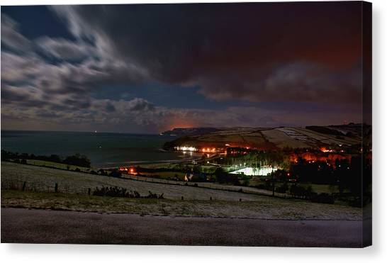 Cushendun By Night Canvas Print