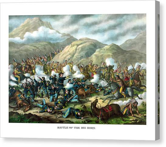 Native Americans Canvas Print - Custer's Last Stand by War Is Hell Store