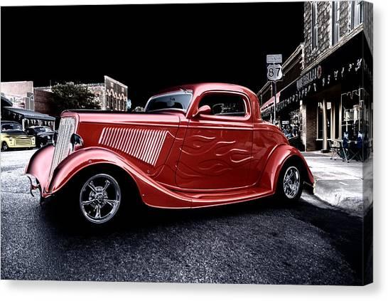 Custom Car On Street Canvas Print