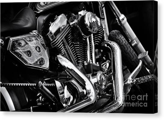 Choppers Canvas Print - Custom Chrome by Tim Gainey