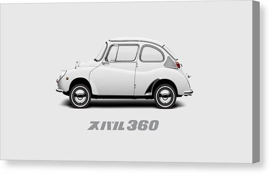 Profile Canvas Print - Custom Color 1970 Subaru 360 by Ed Jackson
