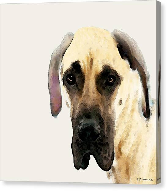 Great Danes Canvas Print - Custom Great Dane Art by Sharon Cummings