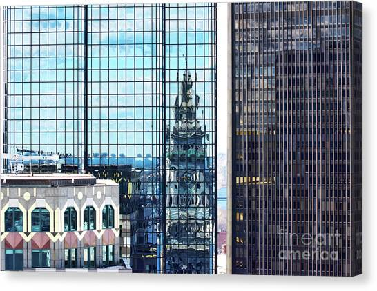 Custom House Reflection Canvas Print