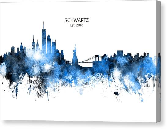 New York Skyline Canvas Print - Custom New York Skyline by Michael Tompsett