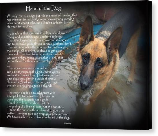Custom Paw Print Maxx Heart Of The Dog Canvas Print