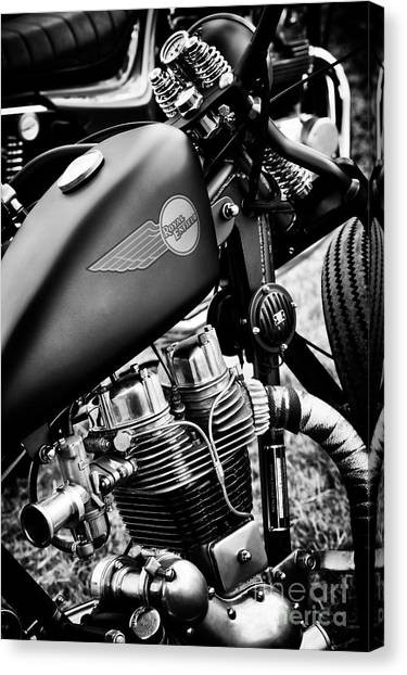Softball Canvas Print - Custom Royal Enfield by Tim Gainey