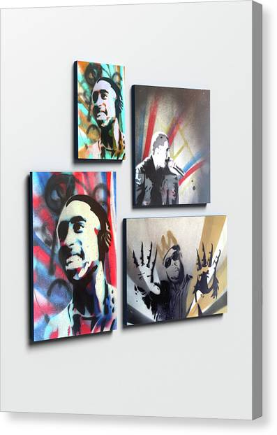 Wu Tang Canvas Print - Custom Spray Paint, Custom Portrait, Icons Celebrity Portraits Onto Canvas, Choose Your Icon by Sid Hedley