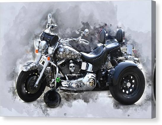 Customized Harley Davidson Canvas Print