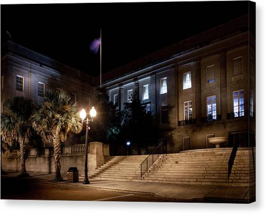 Dea Canvas Print - Customs House At Night by Greg Mimbs