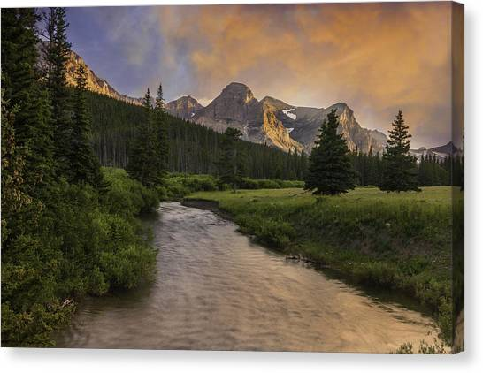Cut Bank Creek At Sunset Canvas Print