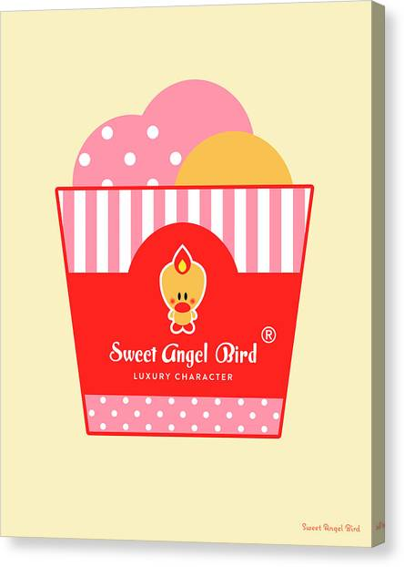 Cute Art - Sweet Angel Bird Ice Cream Party Wall Art Print, Home Decor, Unique Gift Canvas Print