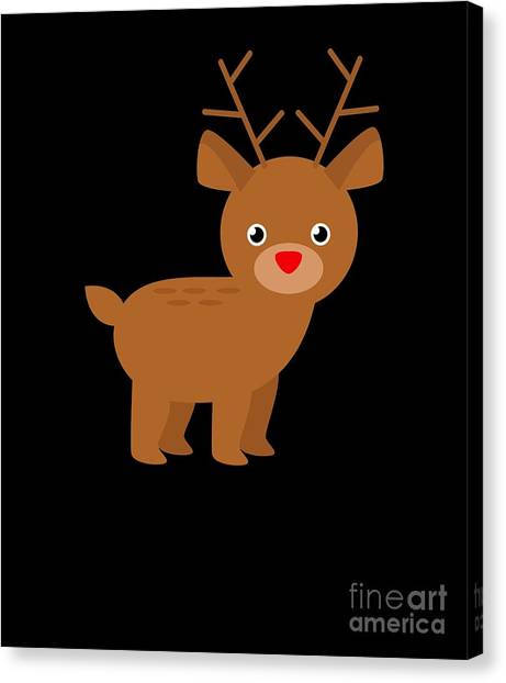 Canvas Print - Cute Christmas Reindeer by Thomas Larch