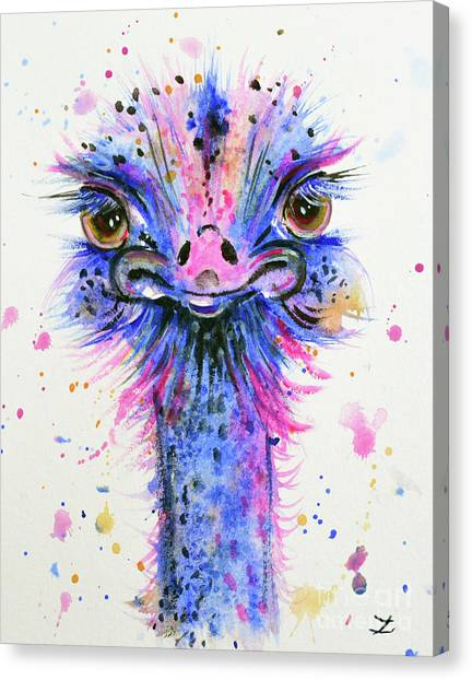 Cute Ostrich Canvas Print