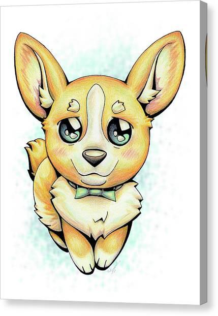 Cutie Corgi Canvas Print