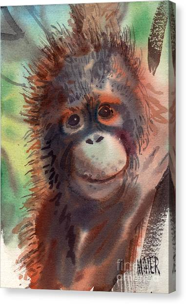 Orangutan Canvas Print - My Precious by Donald Maier