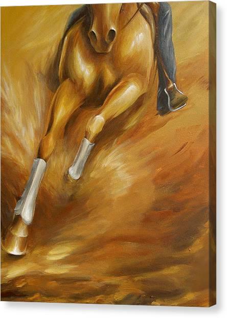 Cutting Horse Closeup 1 Canvas Print