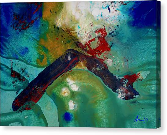Half Life Canvas Print - Cutting The Rope by Ronnie Strand