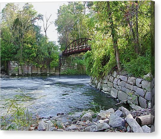 Cuyahoga River At Peninsula Canvas Print
